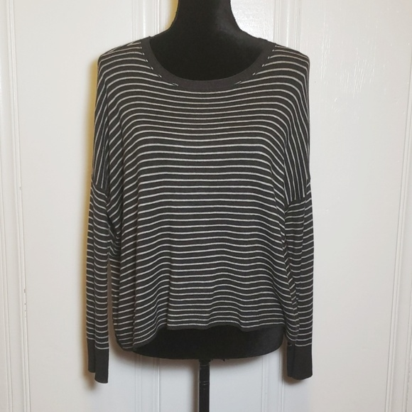 Eileen Fisher Sweaters - Eileen Fisher Gray Striped Boxy Sweater